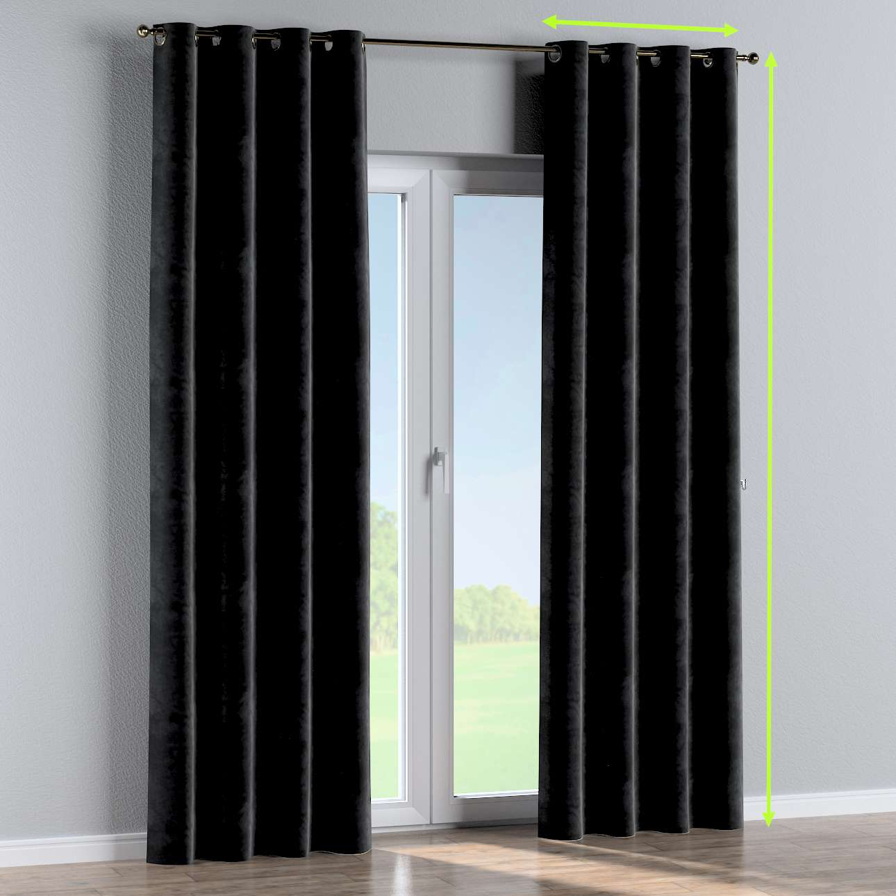 Eyelet curtains in collection Velvet, fabric: 704-17