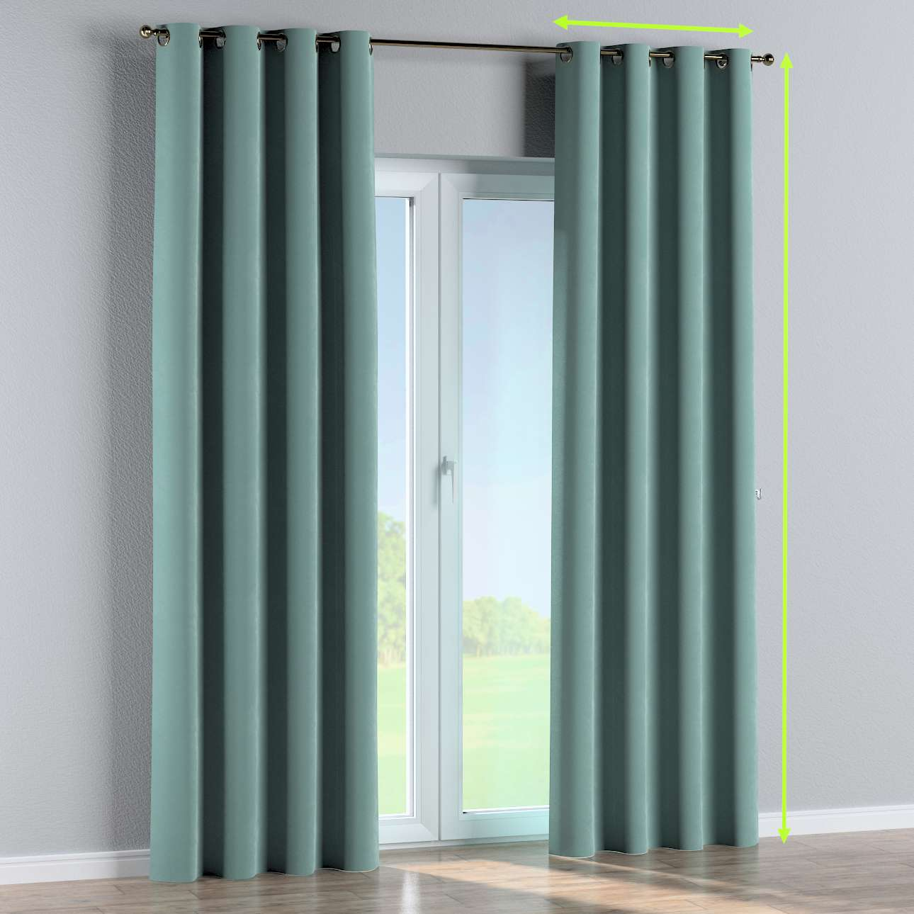 Eyelet curtains in collection Velvet, fabric: 704-18