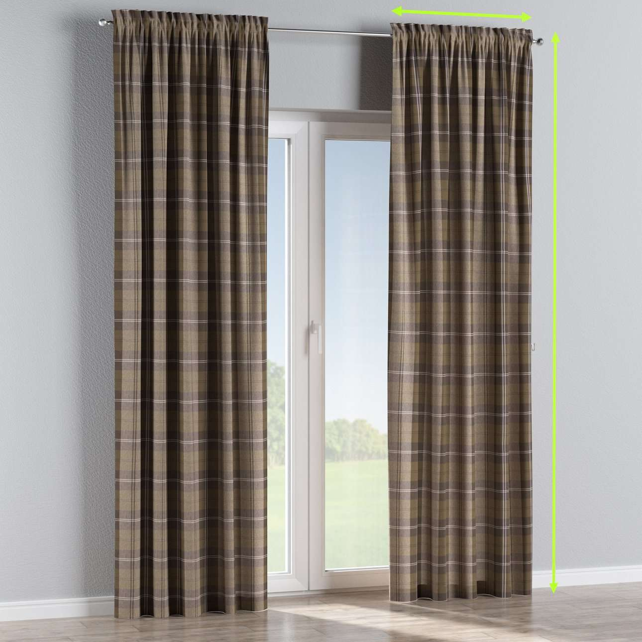 Slot and frill curtains in collection Edinburgh , fabric: 115-76