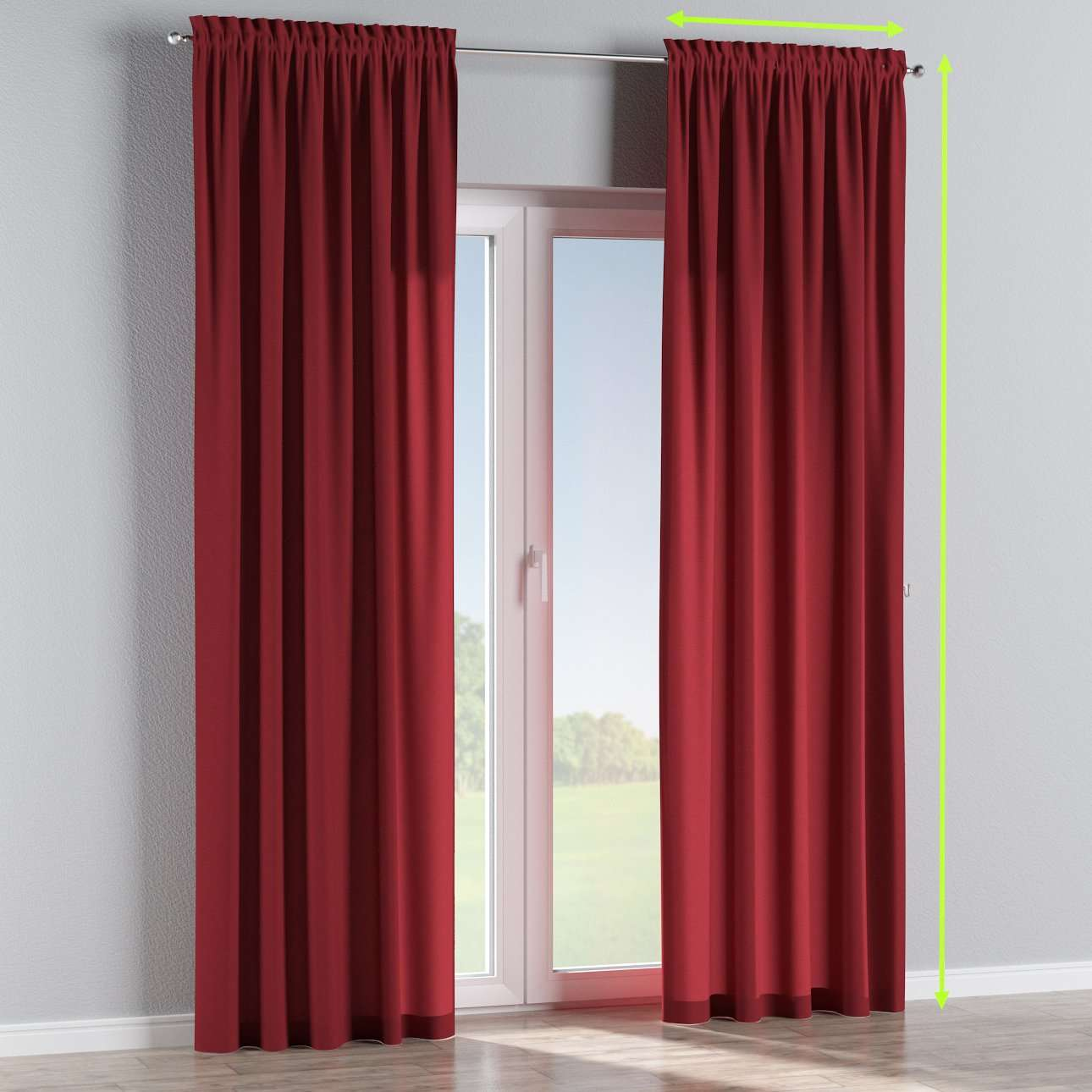 Slot and frill curtains in collection Jupiter, fabric: 127-15