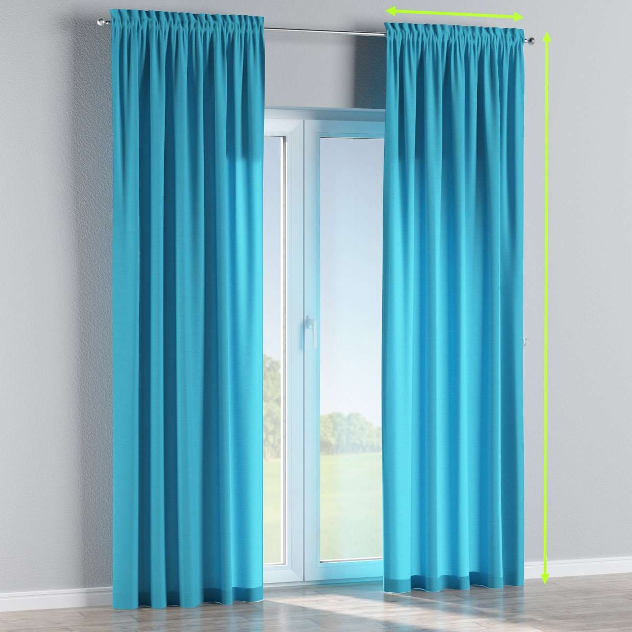 Slot and frill curtains in collection Jupiter, fabric: 127-70