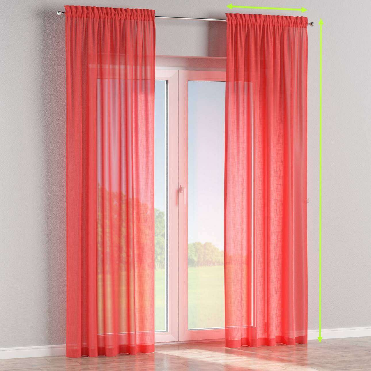 Slot and frill curtains in collection Romantica, fabric: 128-02