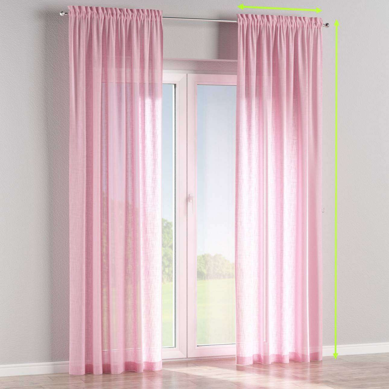 Slot and frill curtains in collection Romantica, fabric: 128-03