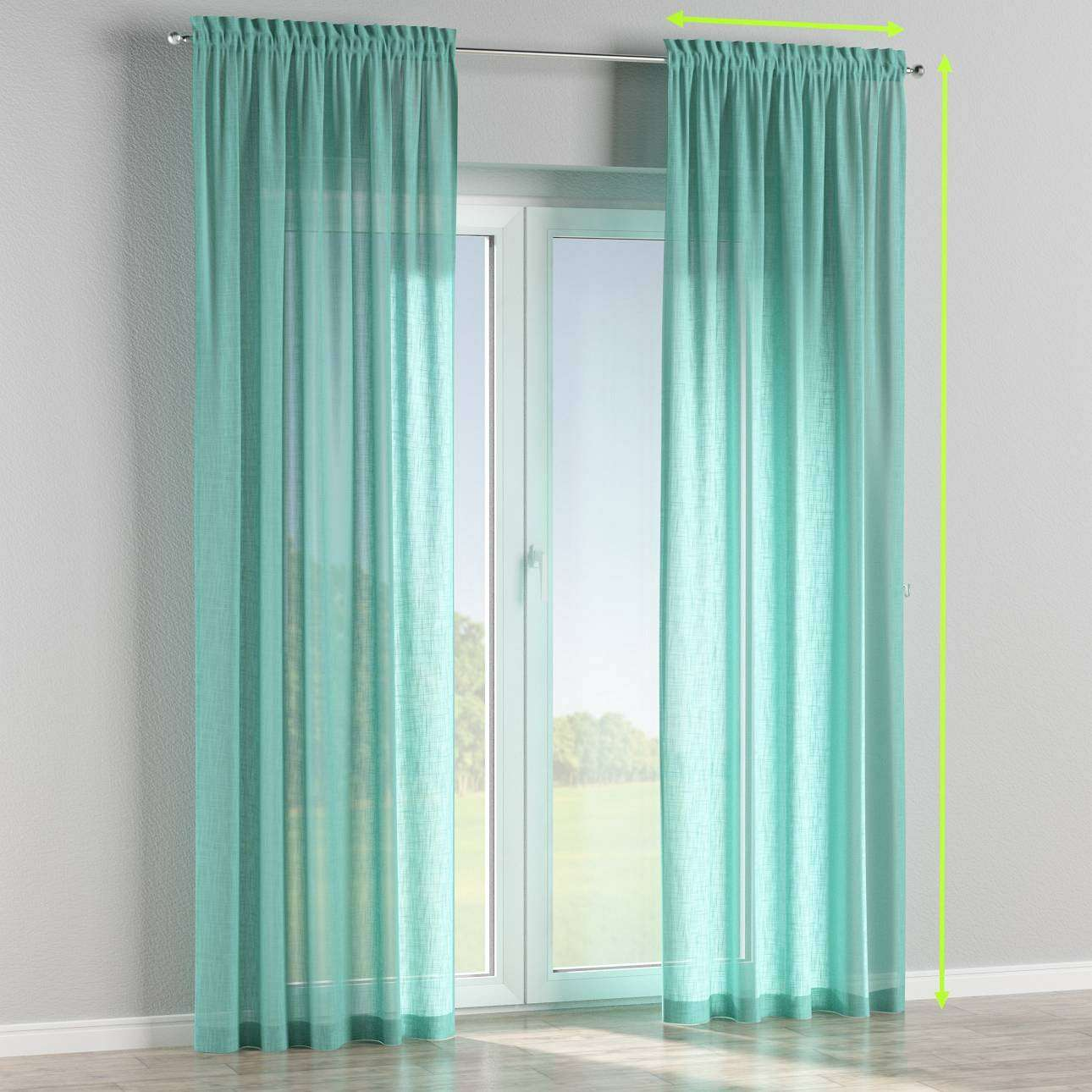 Slot and frill curtains in collection Romantica, fabric: 128-05