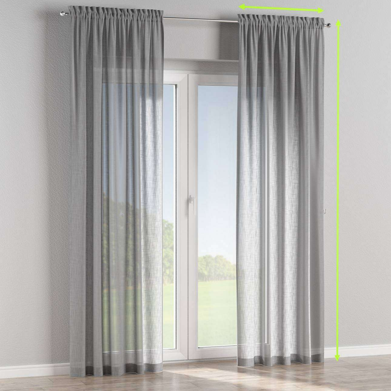 Slot and frill curtains in collection Romantica, fabric: 128-08