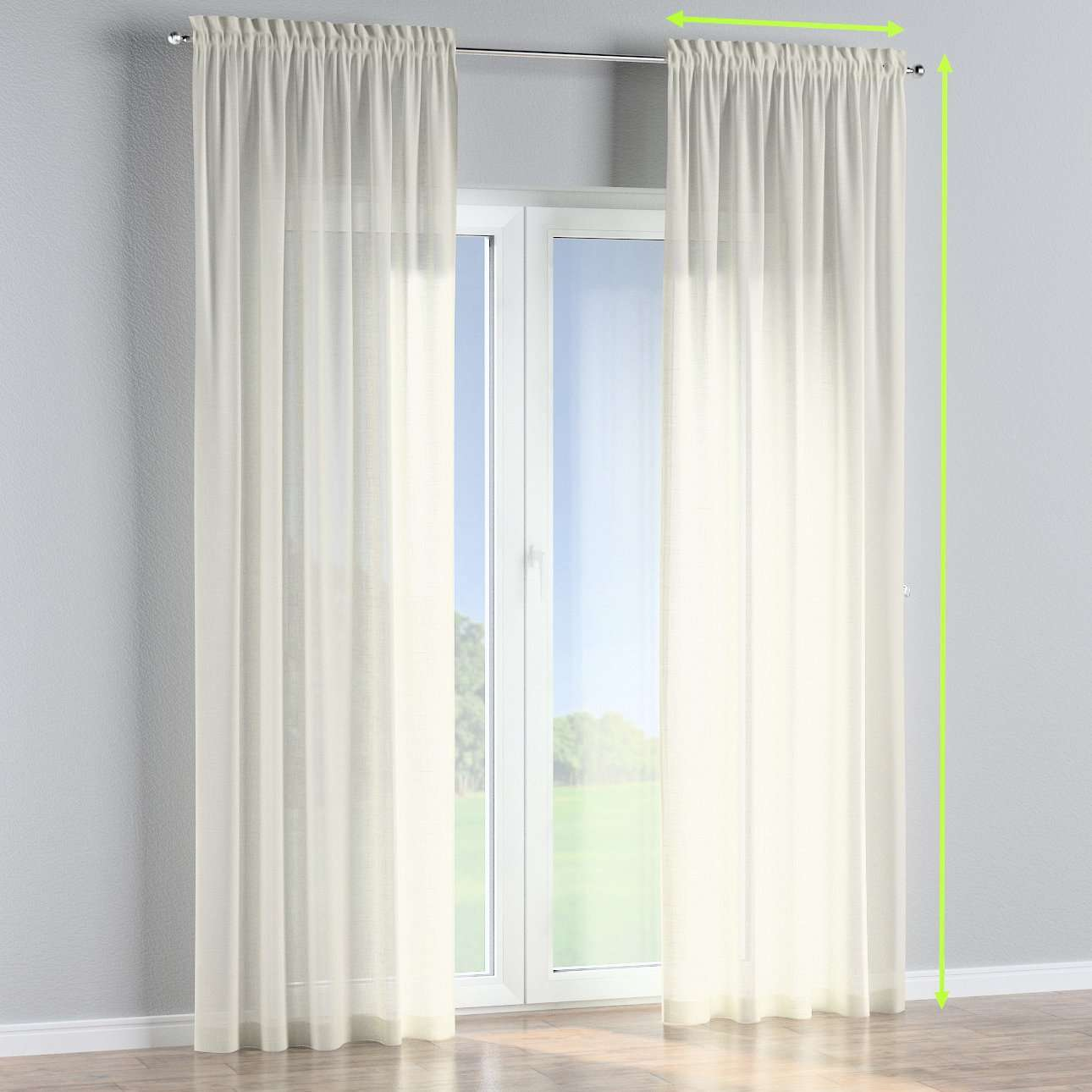Slot and frill curtains in collection Romantica, fabric: 128-88