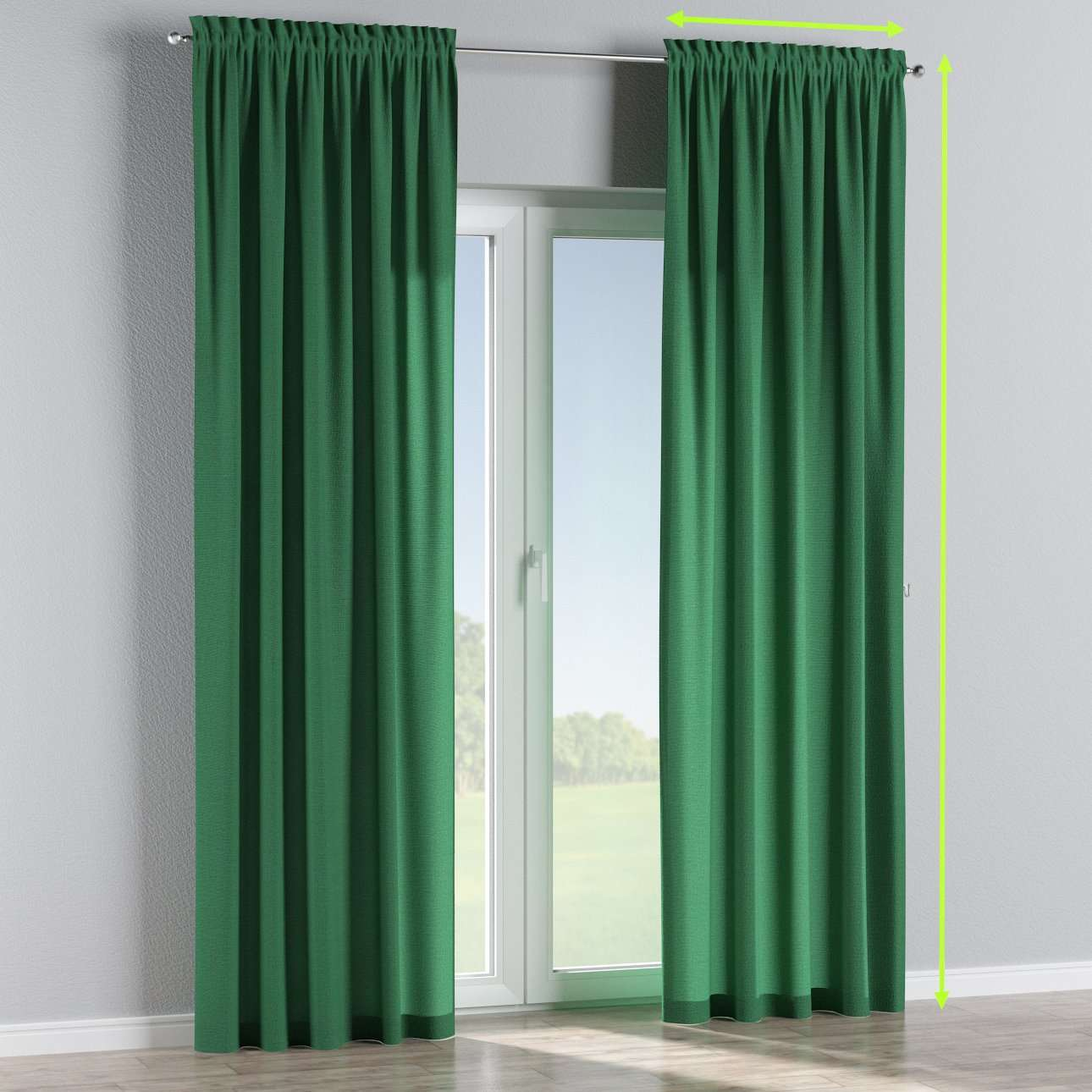 Slot and frill curtains in collection Loneta , fabric: 133-18