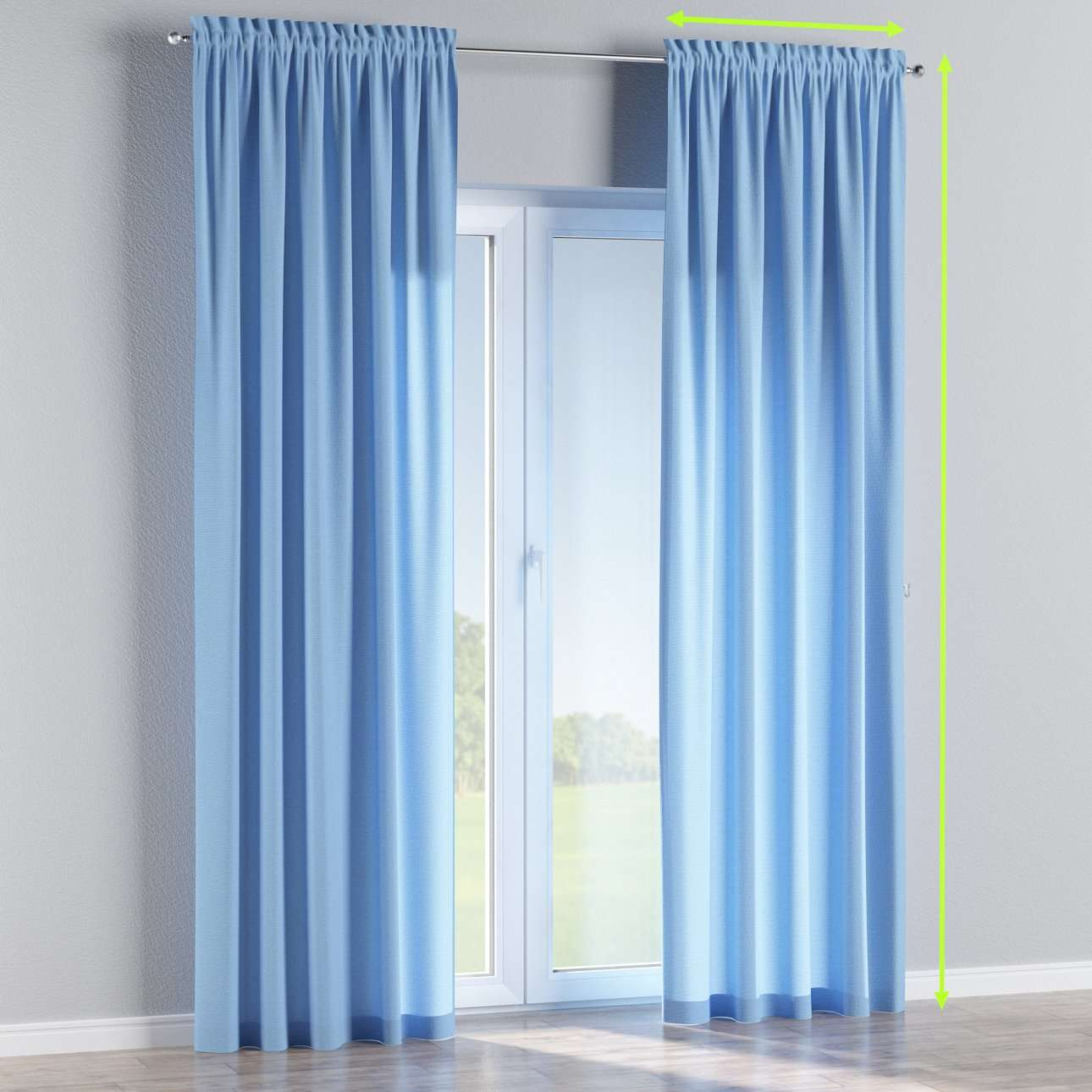 Slot and frill curtains in collection Loneta , fabric: 133-21