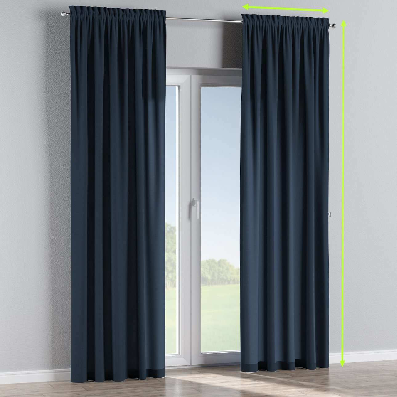Slot and frill curtains in collection Quadro, fabric: 136-04