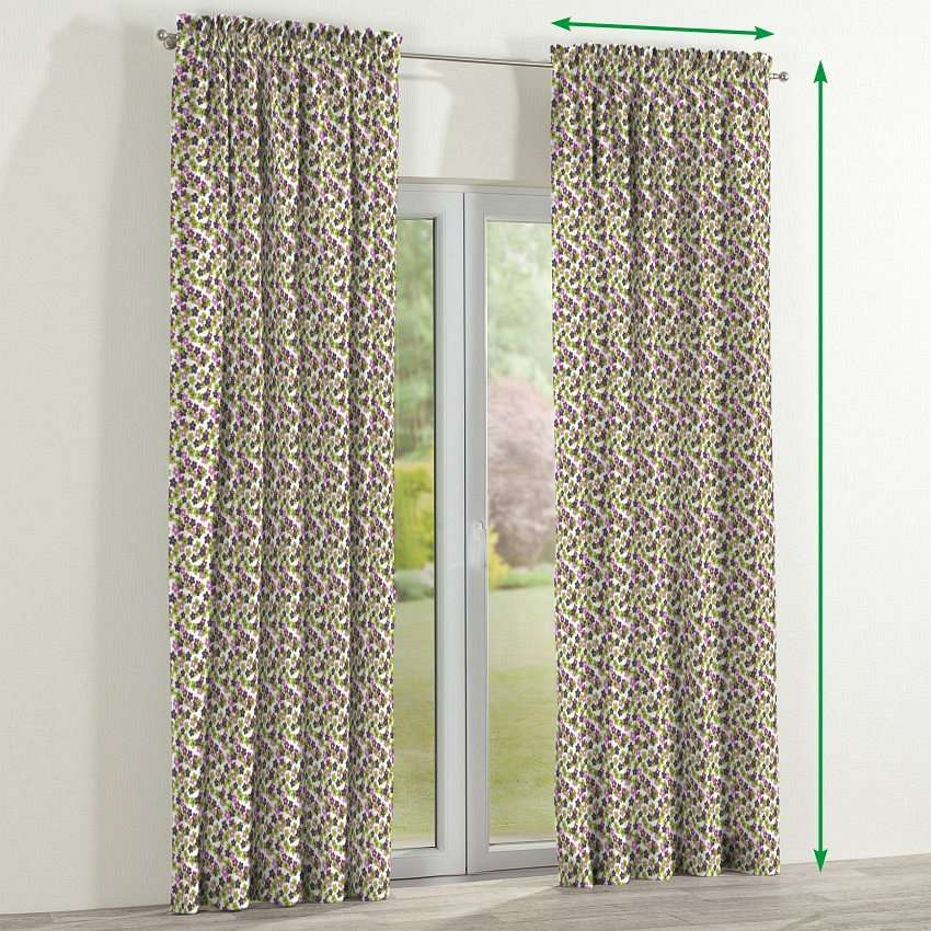 Slot and frill curtains in collection Fleur , fabric: 137-55