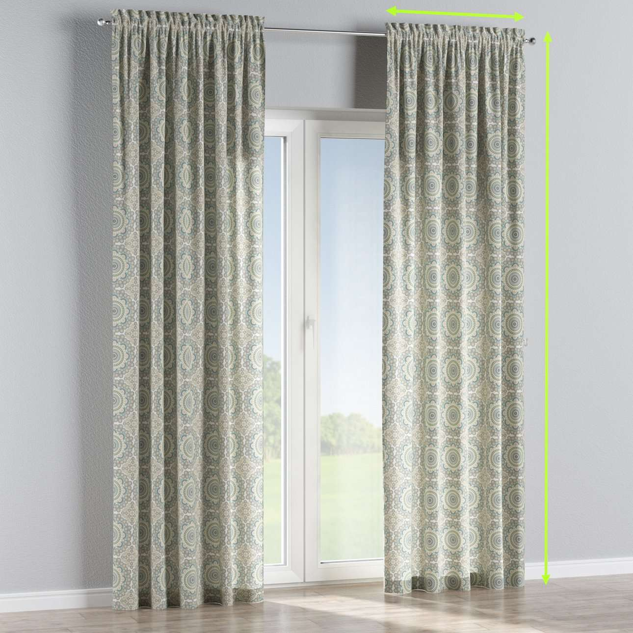 Slot and frill curtains in collection Comic Book & Geo Prints, fabric: 137-84