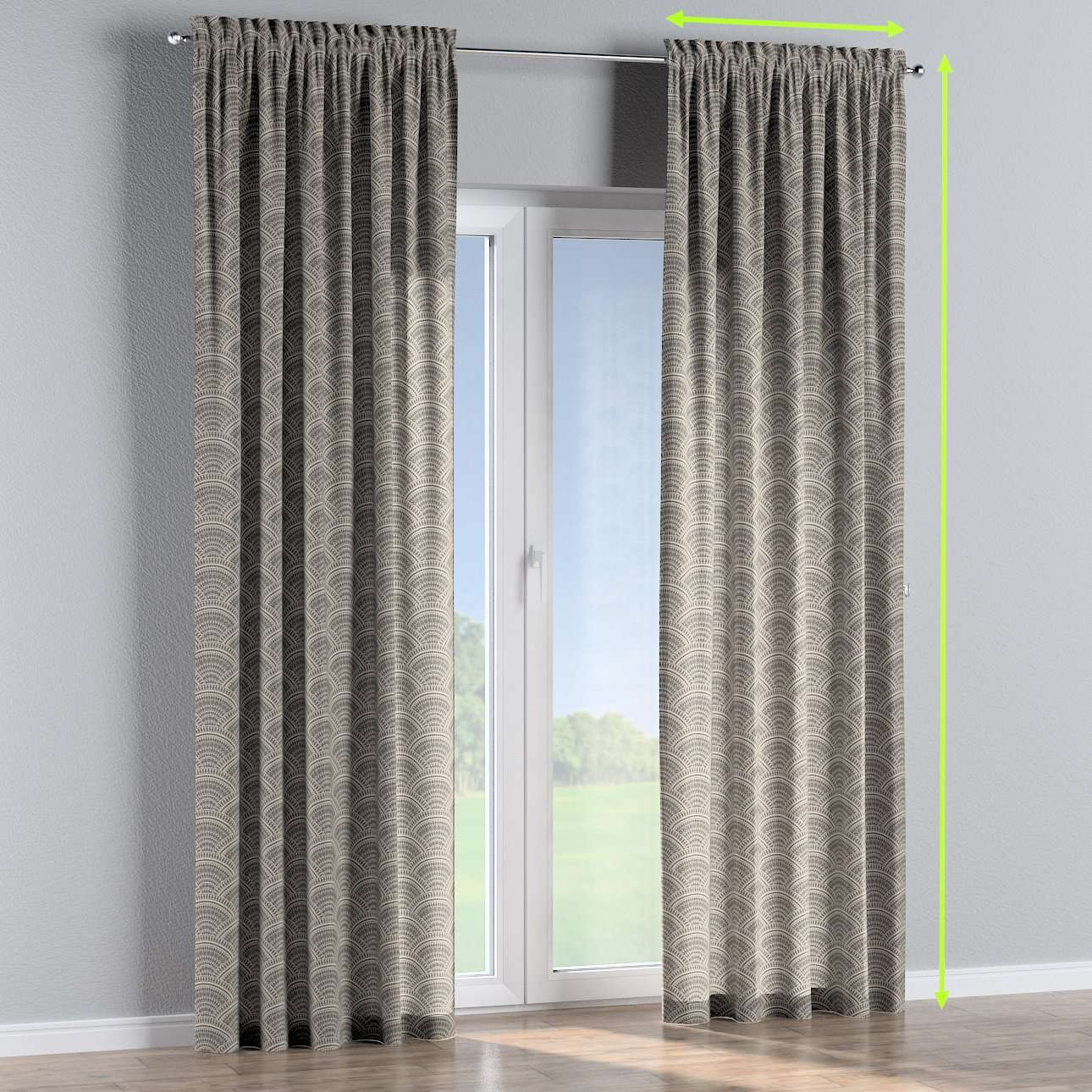 Slot and frill curtains in collection Comic Book & Geo Prints, fabric: 141-19