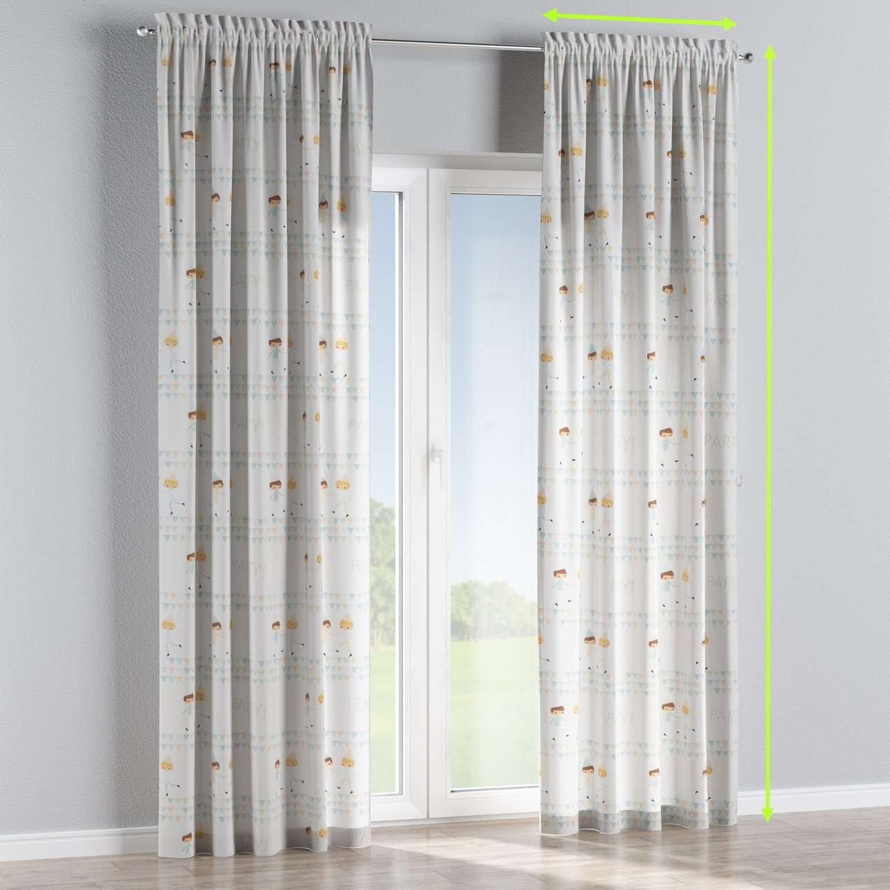Slot and frill curtains in collection Apanona, fabric: 151-01