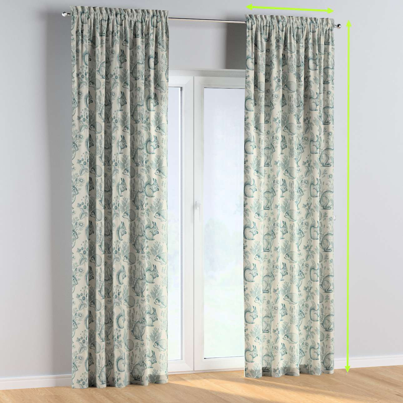 Slot and frill curtains in collection Magic Collection, fabric: 500-04