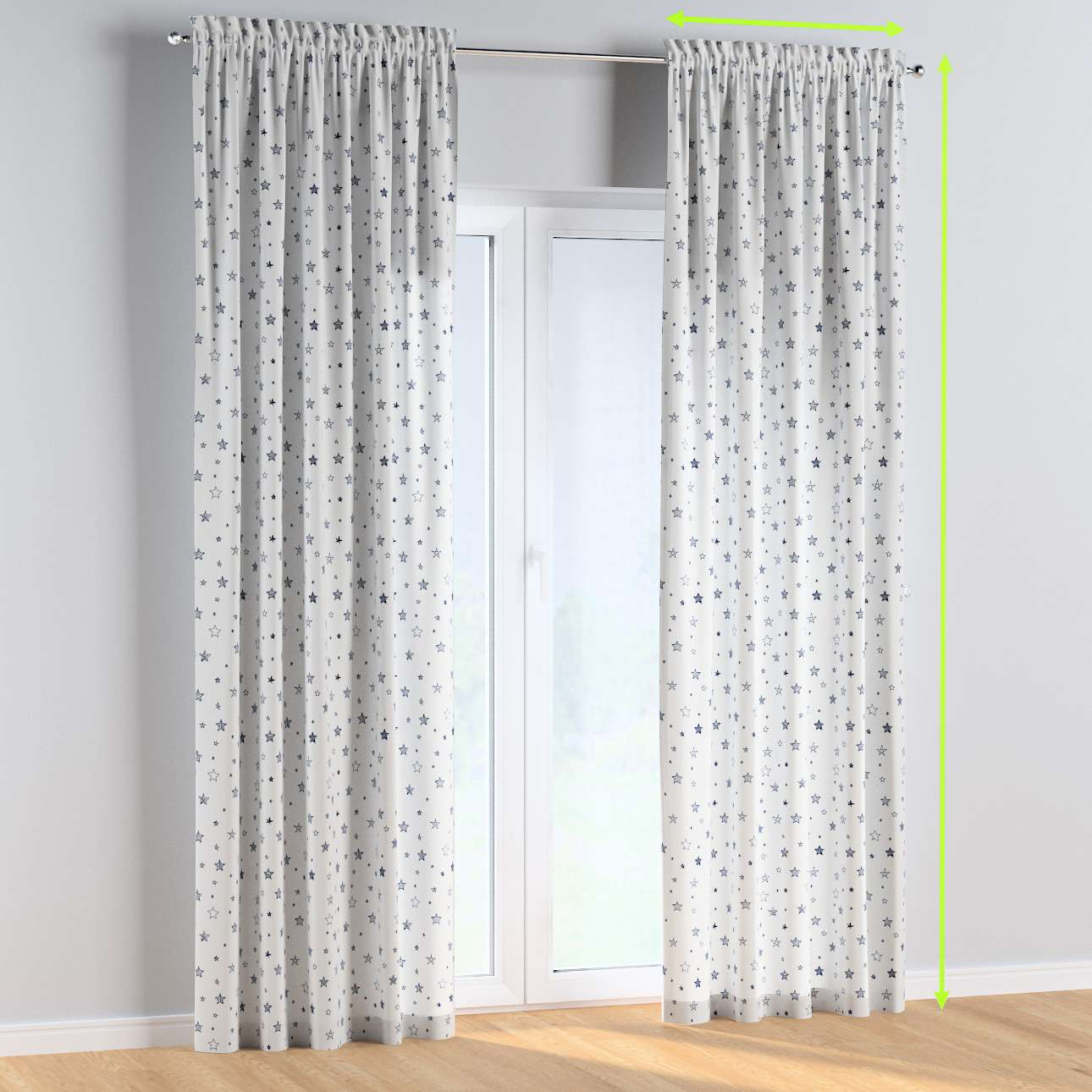 Slot and frill curtains in collection Magic Collection, fabric: 500-08