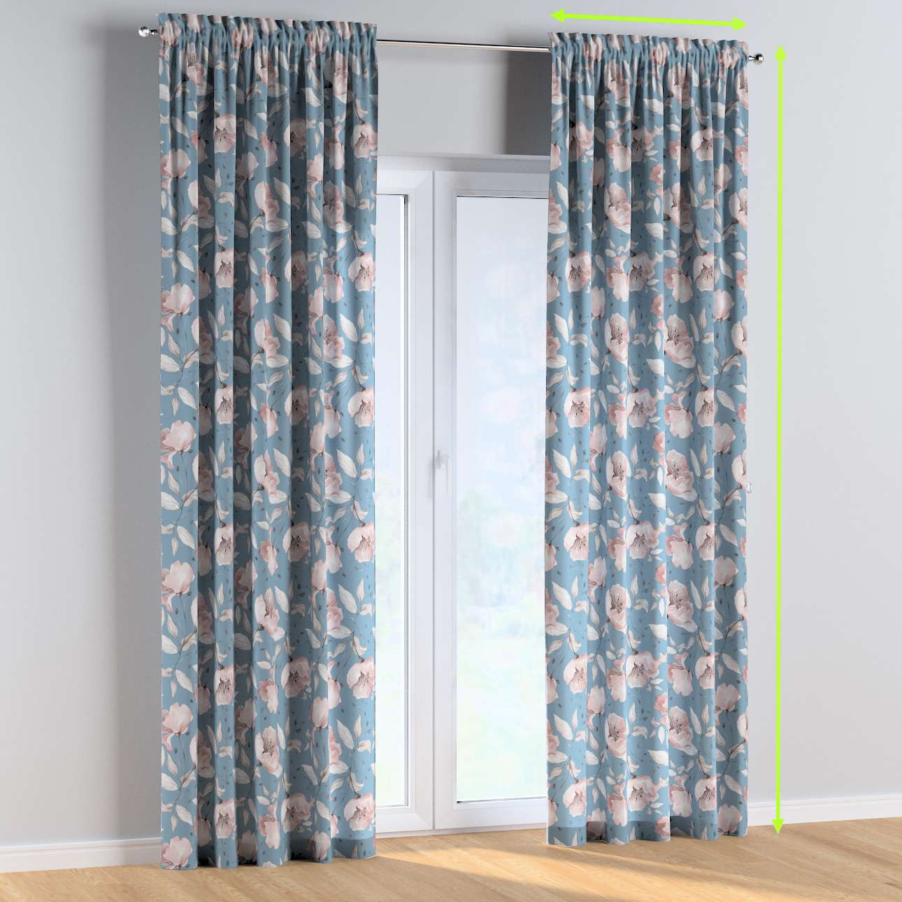 Slot and frill curtains in collection Magic Collection, fabric: 500-18