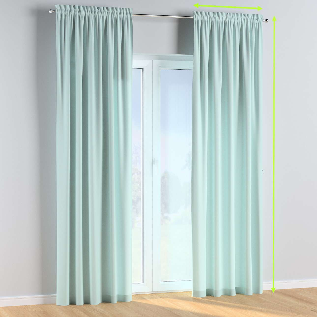 Slot and frill curtains in collection Cotton Story, fabric: 702-10