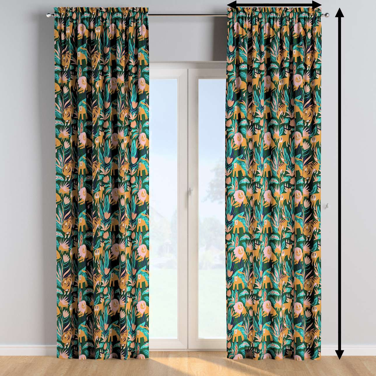 Slot and frill curtains in collection Magic Collection, fabric: 500-42