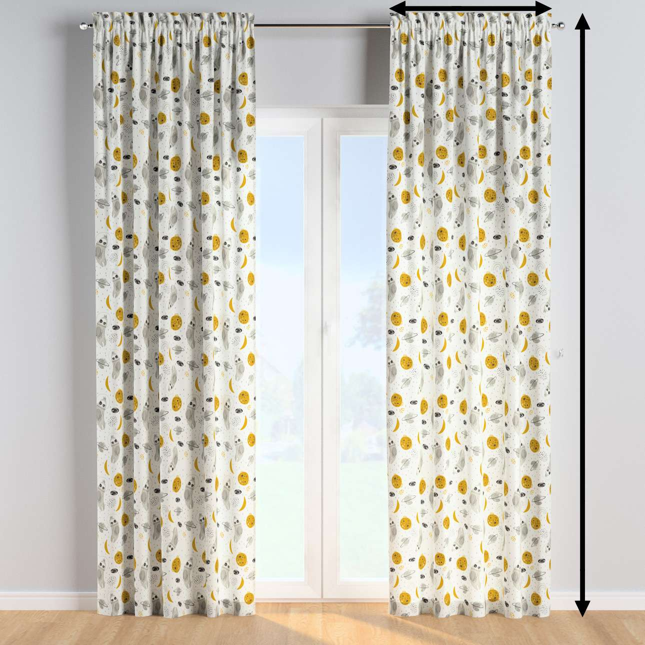 Slot and frill curtains in collection Magic Collection, fabric: 500-44