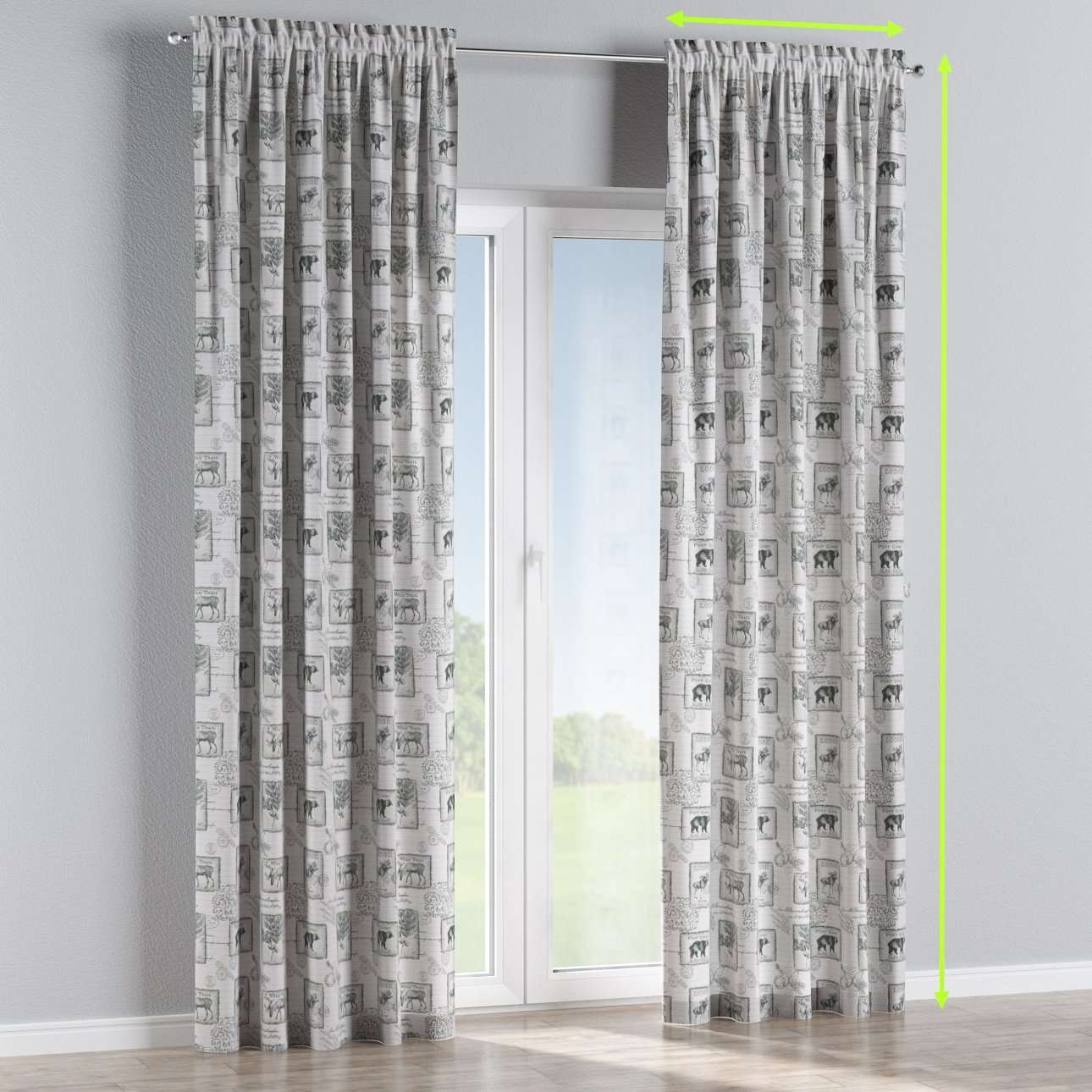 Slot and frill curtains in collection Nordic, fabric: 630-18