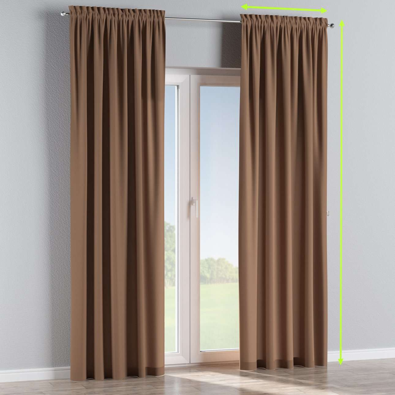 Slot and frill curtains in collection Cotton Panama, fabric: 702-02