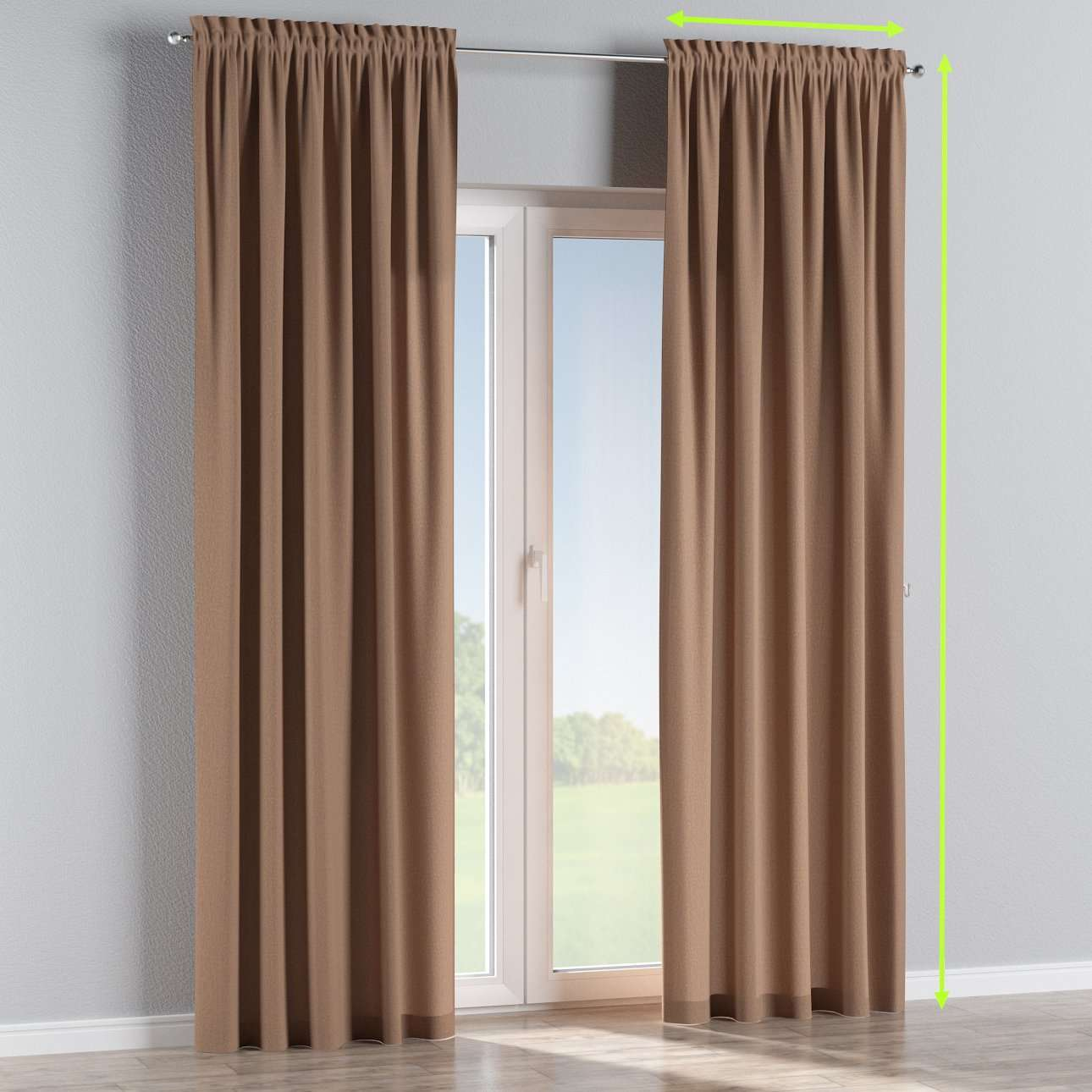 Slot and frill curtains in collection Chenille, fabric: 702-21