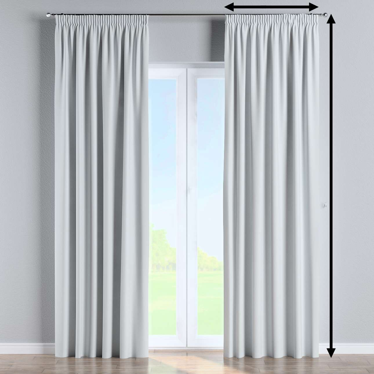 Blackout pencil pleat curtain in collection Blackout 280 cm, fabric: 269-05