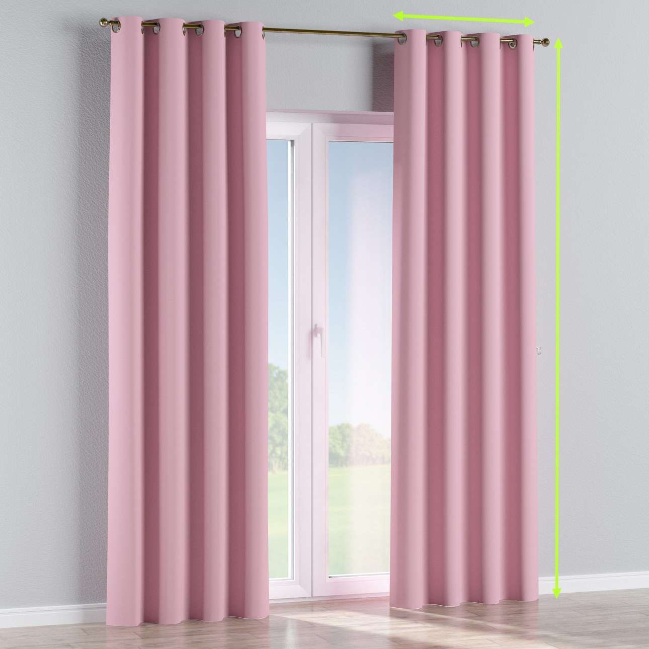 Blackout eyelet curtain in collection Blackout, fabric: 269-92