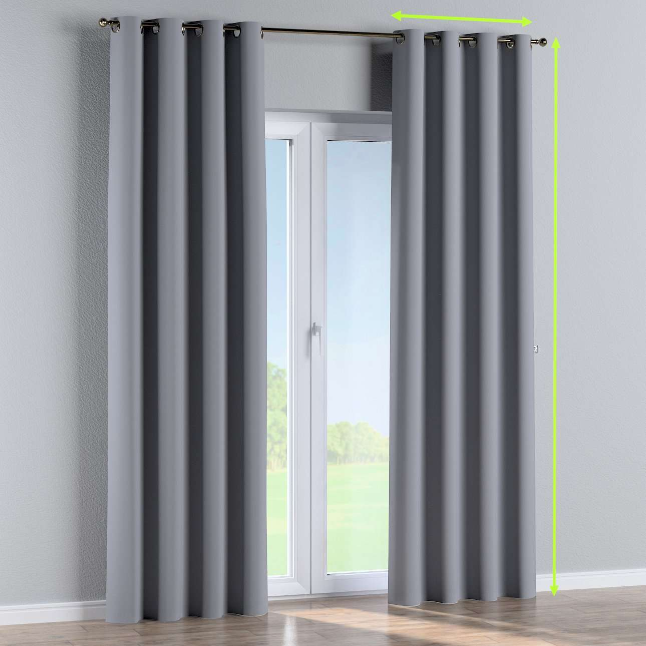 Blackout eyelet curtain in collection Blackout, fabric: 269-96