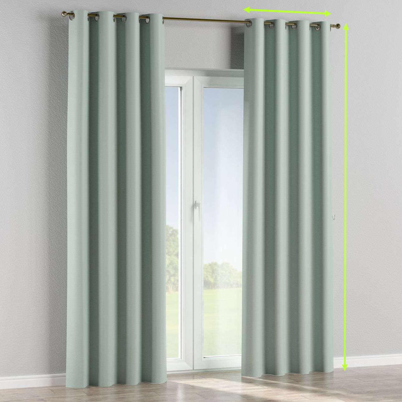 Blackout eyelet curtain in collection Blackout, fabric: 269-61