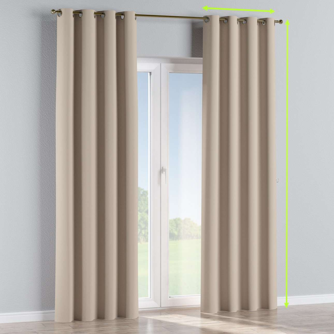 Blackout eyelet curtains in collection Blackout, fabric: 269-00