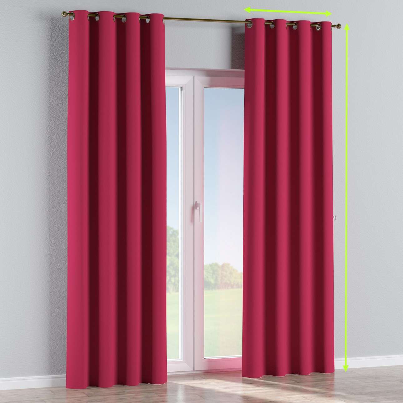 Blackout eyelet curtains in collection Blackout, fabric: 269-51