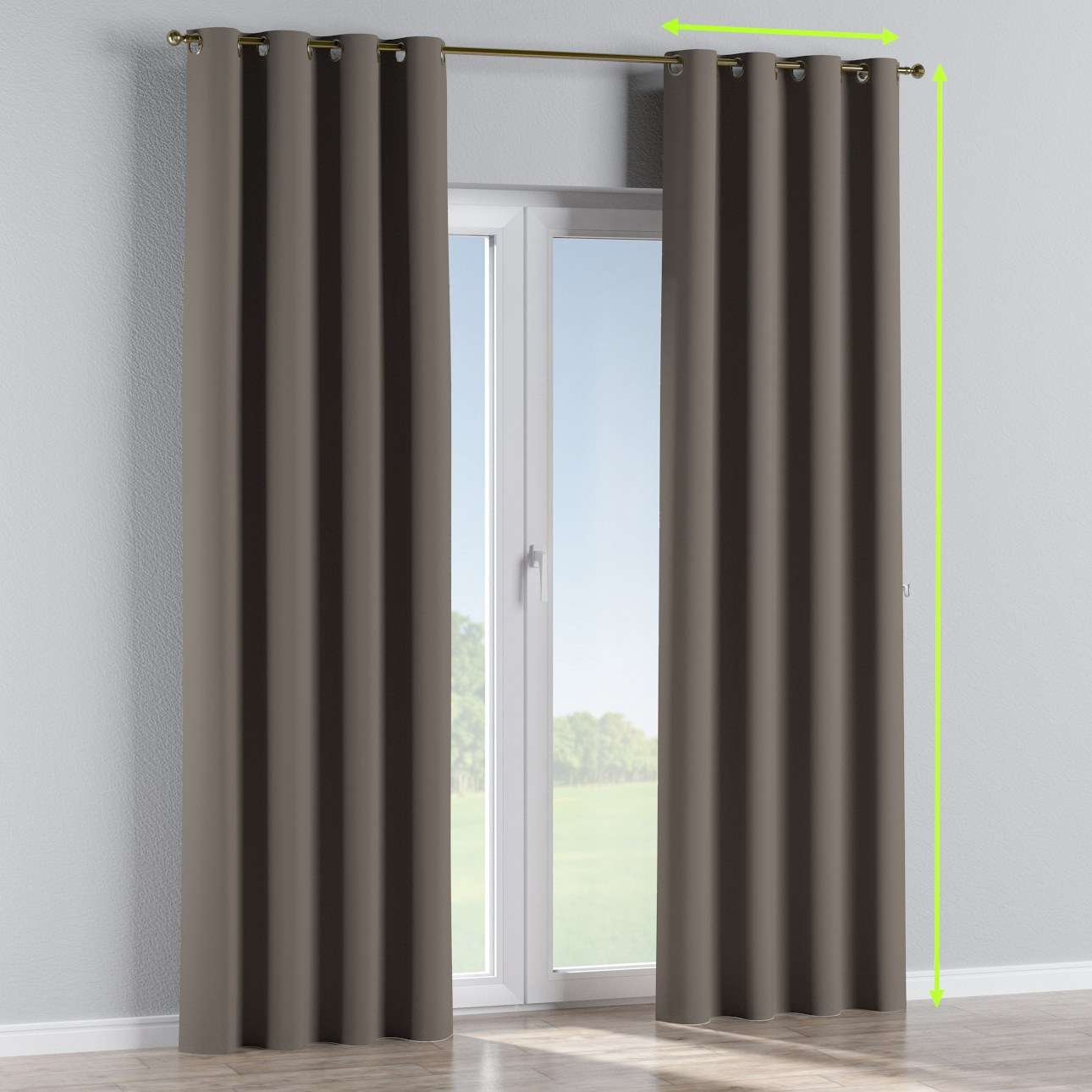 Blackout eyelet curtains in collection Blackout, fabric: 269-80
