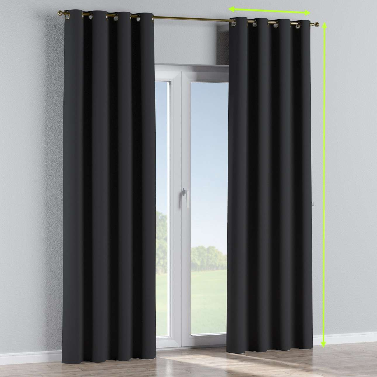 Blackout eyelet curtains in collection Blackout, fabric: 269-99