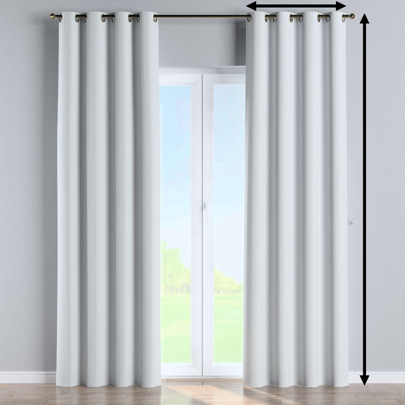 Blackout eyelet curtain in collection Blackout 280 cm, fabric: 269-05