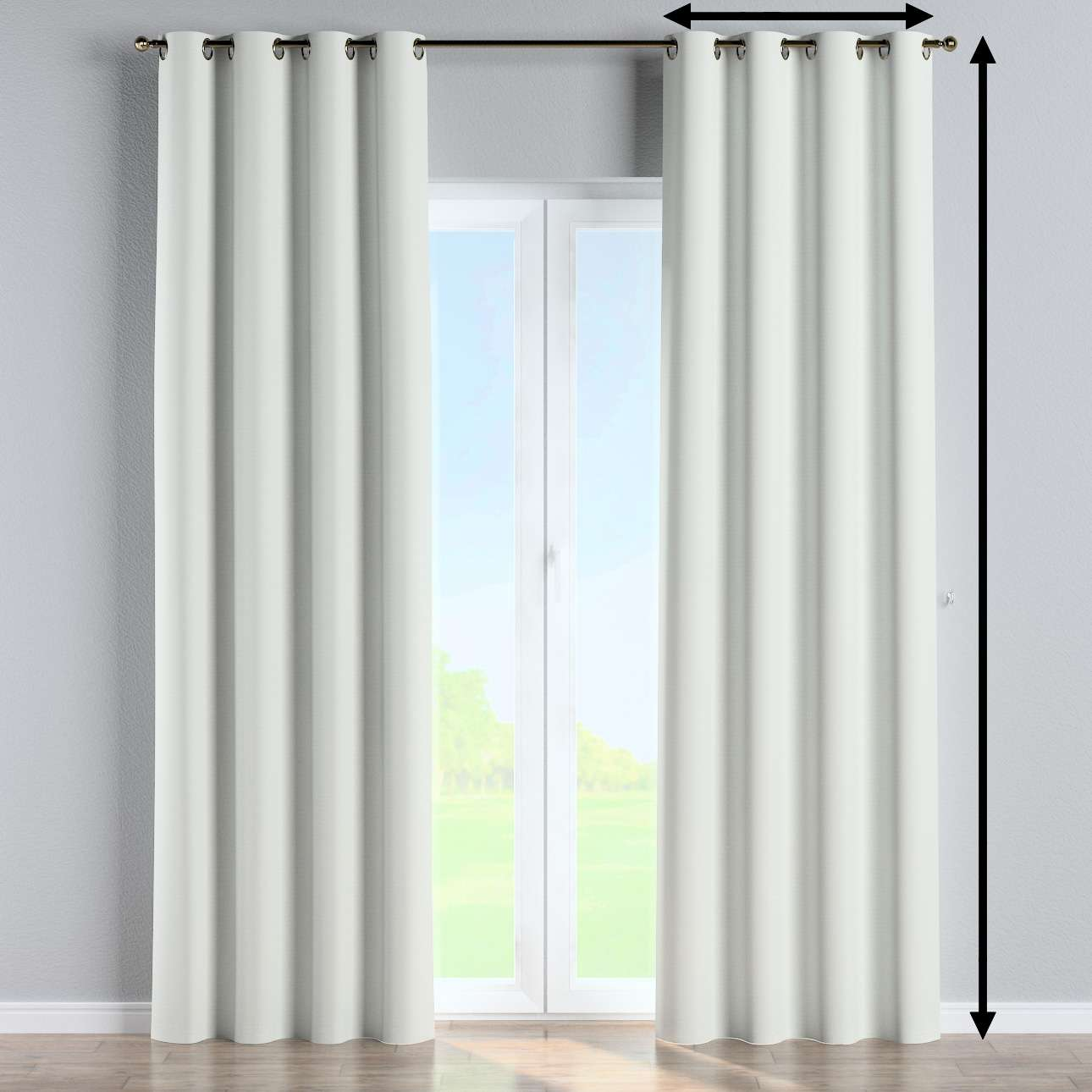 Blackout eyelet curtain in collection Blackout 280 cm, fabric: 269-10