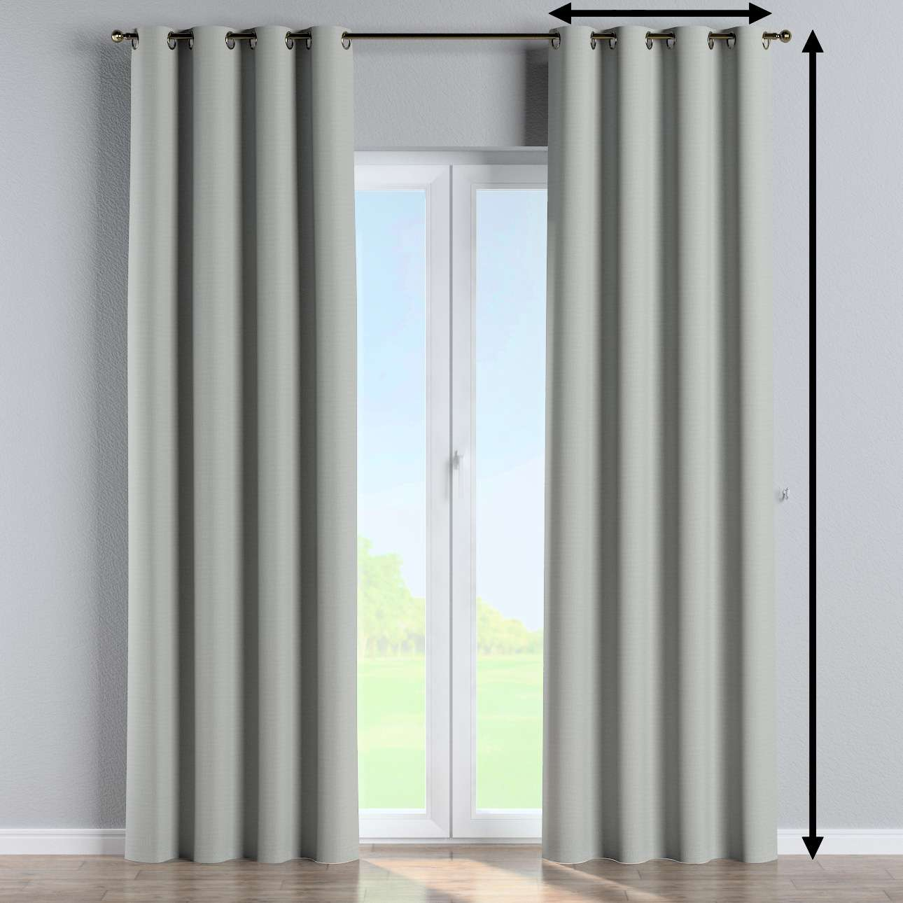 Blackout eyelet curtain in collection Blackout 280 cm, fabric: 269-13