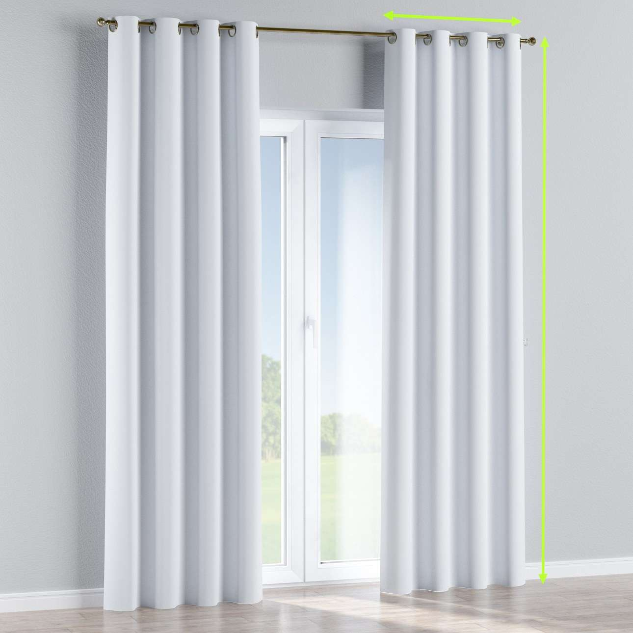 Blackout eyelet curtain in collection Blackout, fabric: 269-01