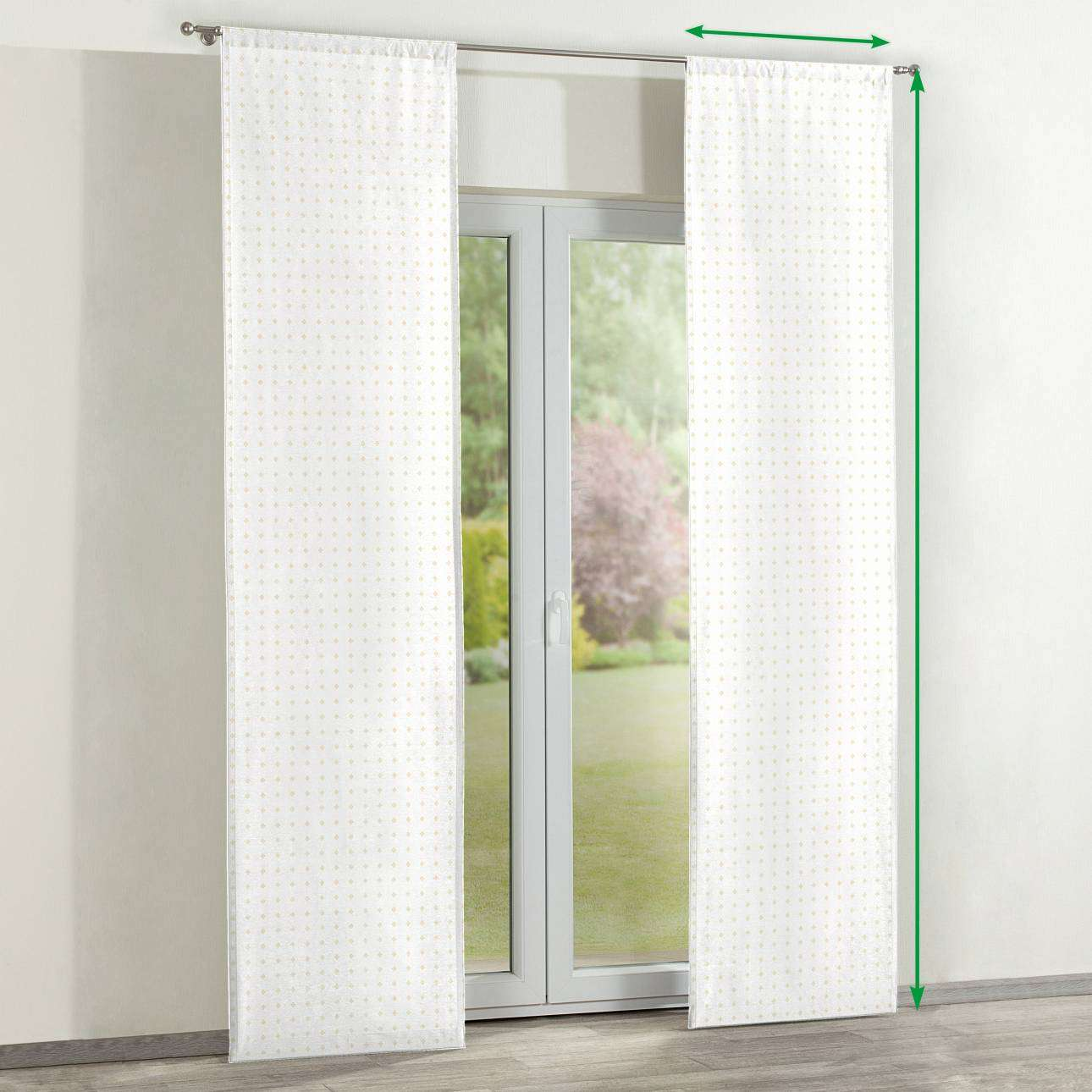 Slot panel curtains – Set of 2 in collection Arcana, fabric: 102-02
