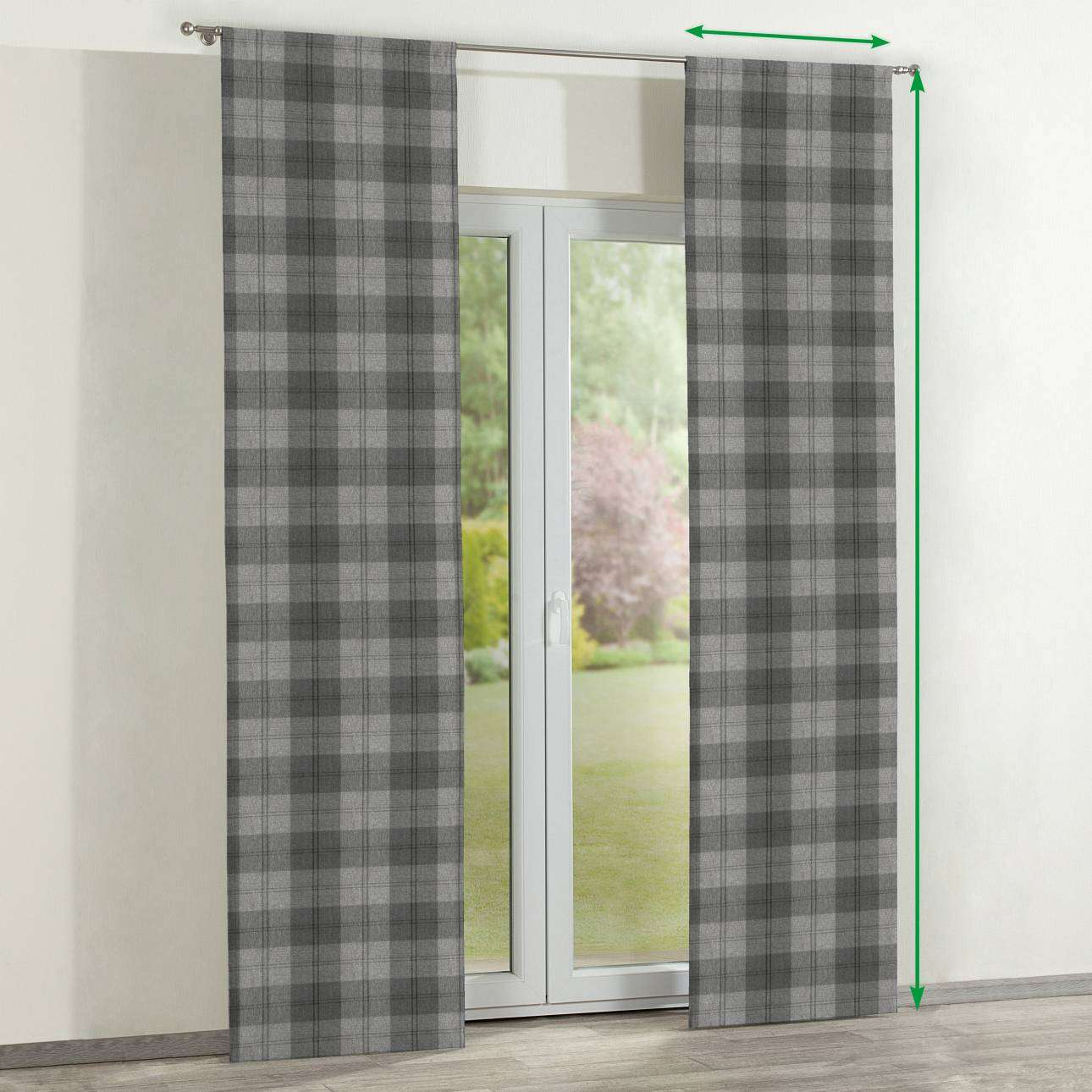 Slot panel curtains – Set of 2 in collection Edinburgh , fabric: 115-75