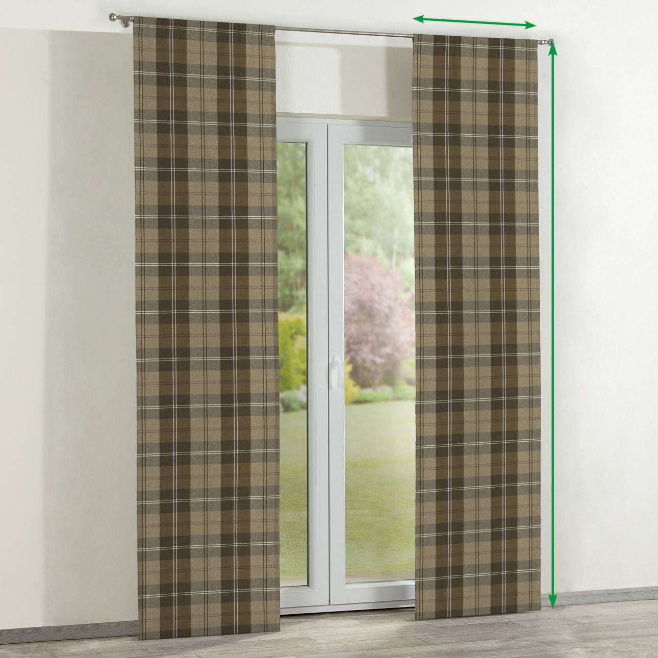 Slot panel curtains – Set of 2 in collection Edinburgh , fabric: 115-76