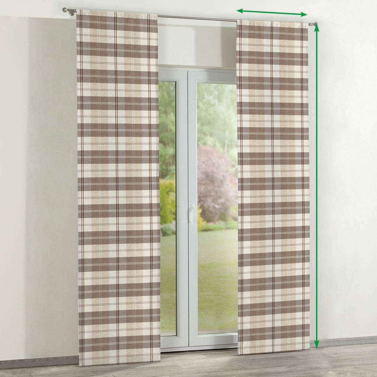 Slot panel curtains – Set of 2 in collection Edinburgh , fabric: 115-80