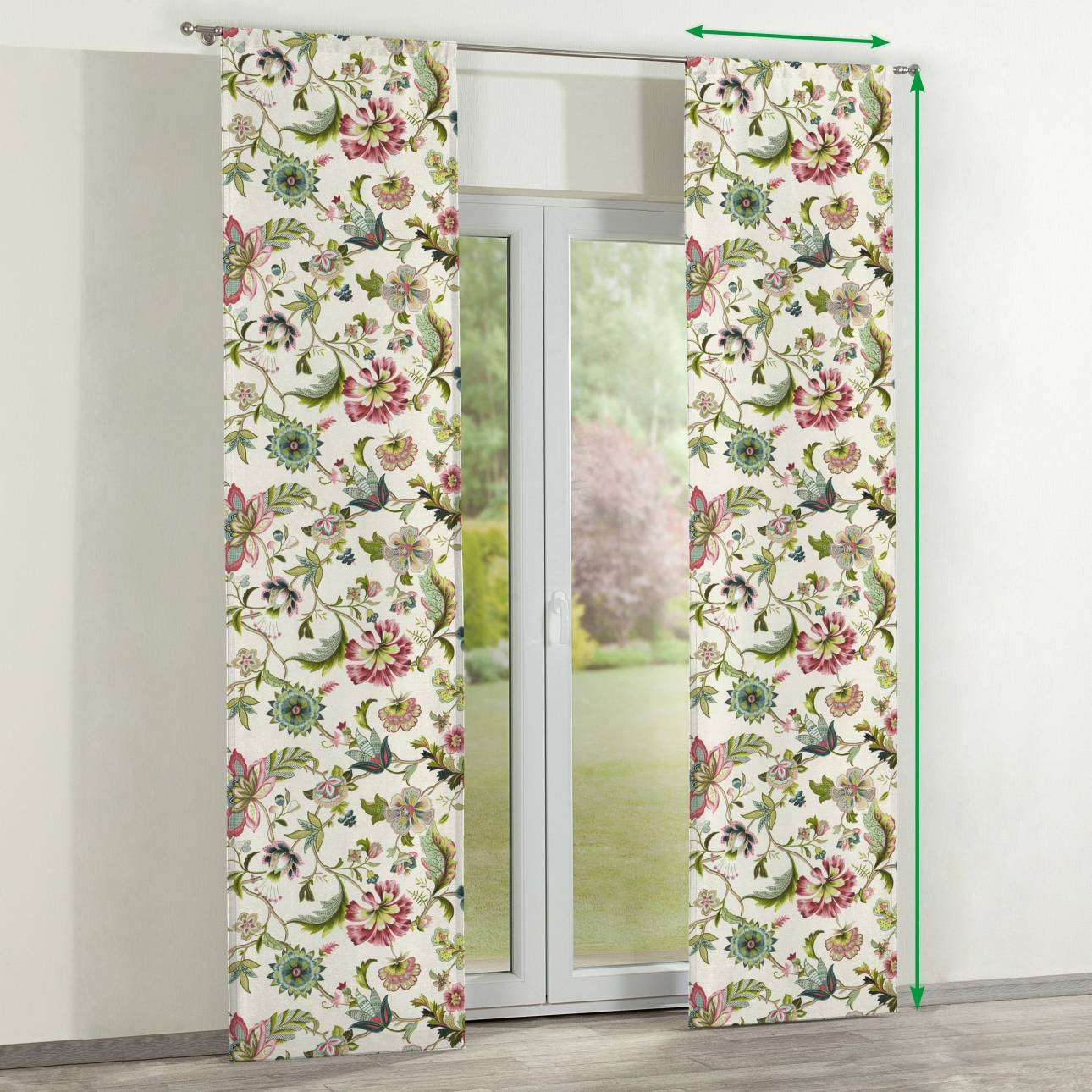 Slot panel curtains – Set of 2 in collection Londres, fabric: 122-00