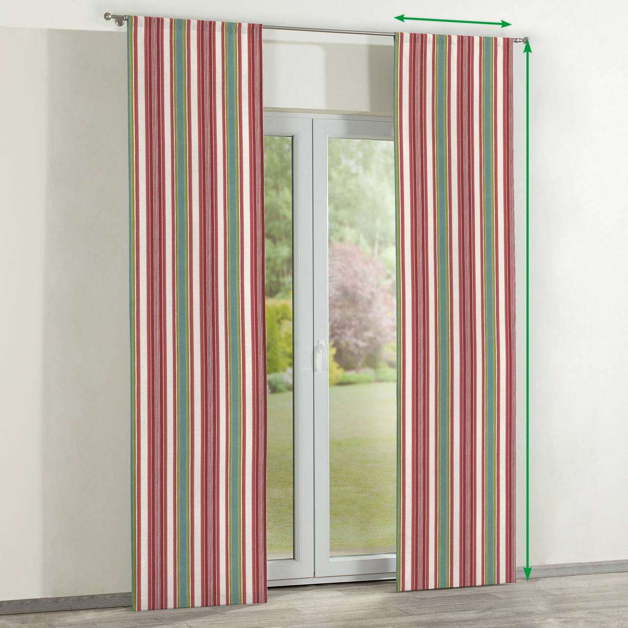 Slot panel curtains – Set of 2 in collection Londres, fabric: 122-01