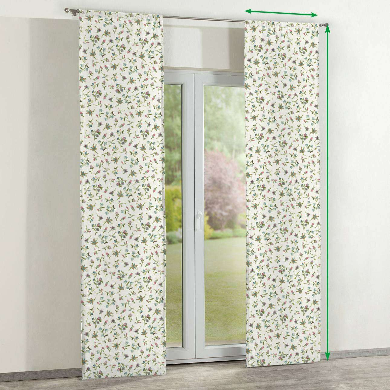 Slot panel curtains – Set of 2 in collection Londres, fabric: 122-02