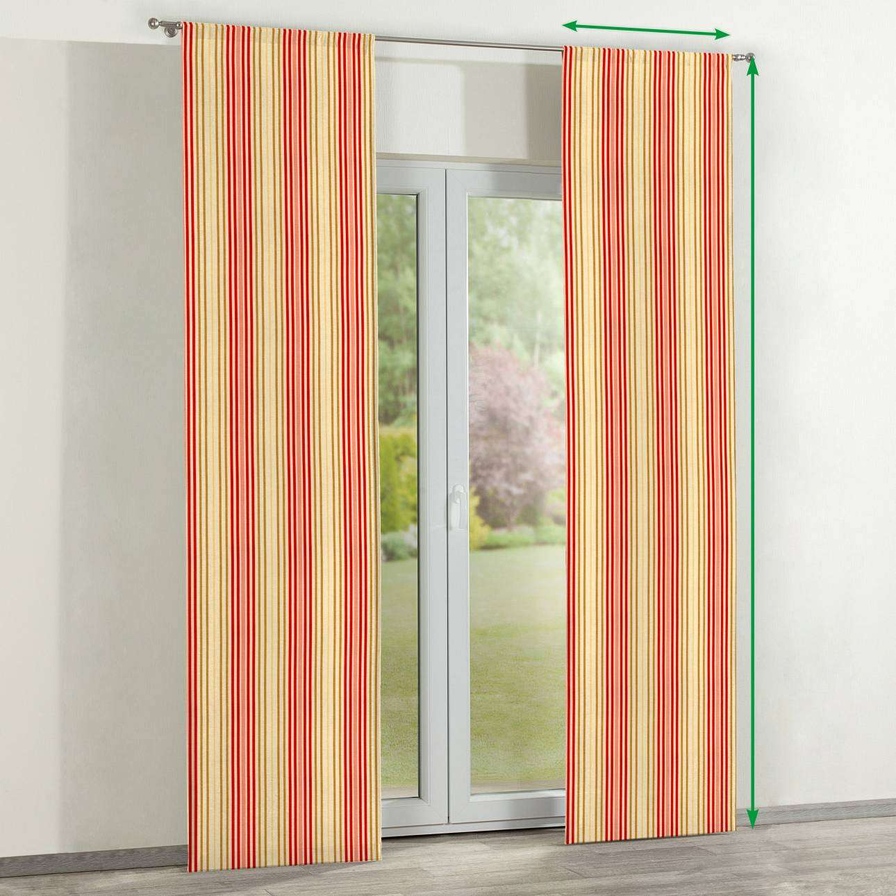 Slot panel curtains – Set of 2 in collection Londres, fabric: 122-05