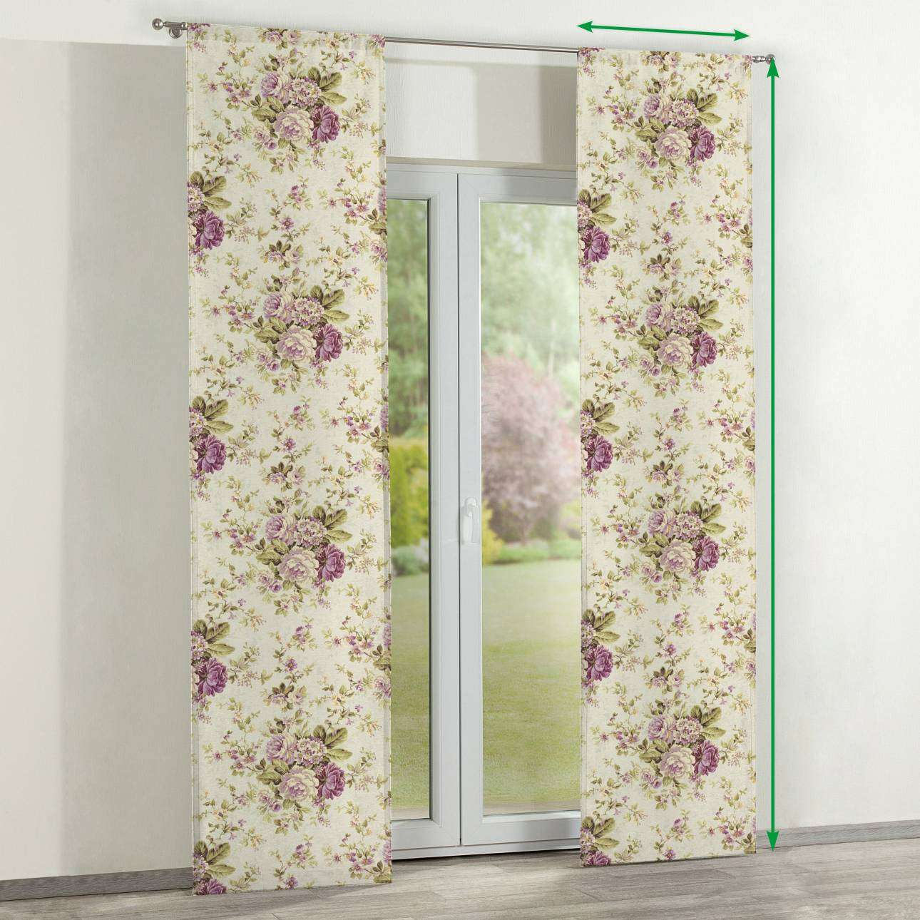 Slot panel curtains – Set of 2 in collection Londres, fabric: 122-08
