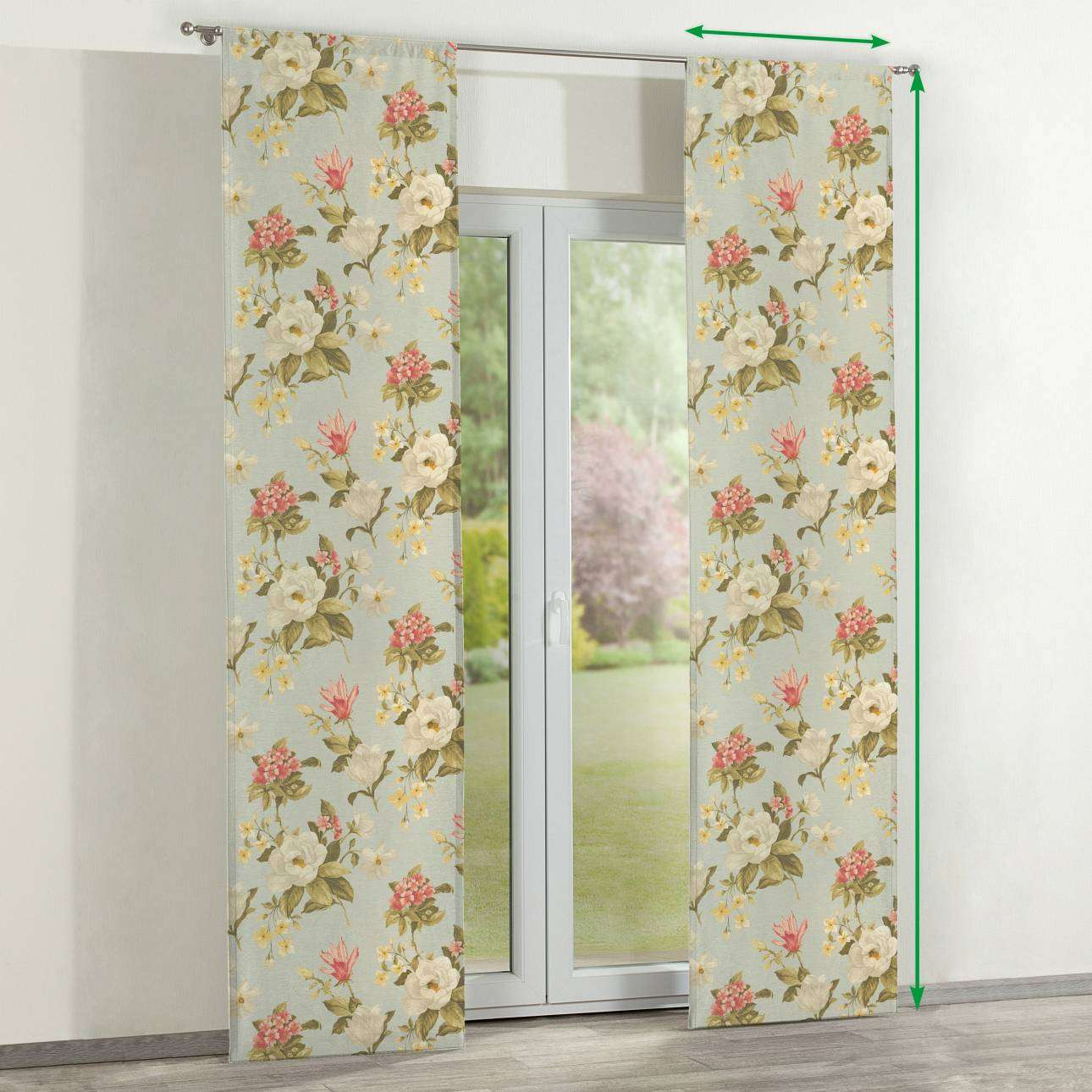 Slot panel curtains – Set of 2 in collection Londres, fabric: 123-65