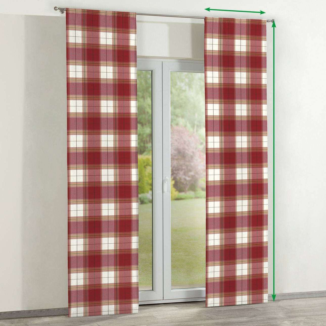 Slot panel curtains – Set of 2 in collection Bristol, fabric: 125-15