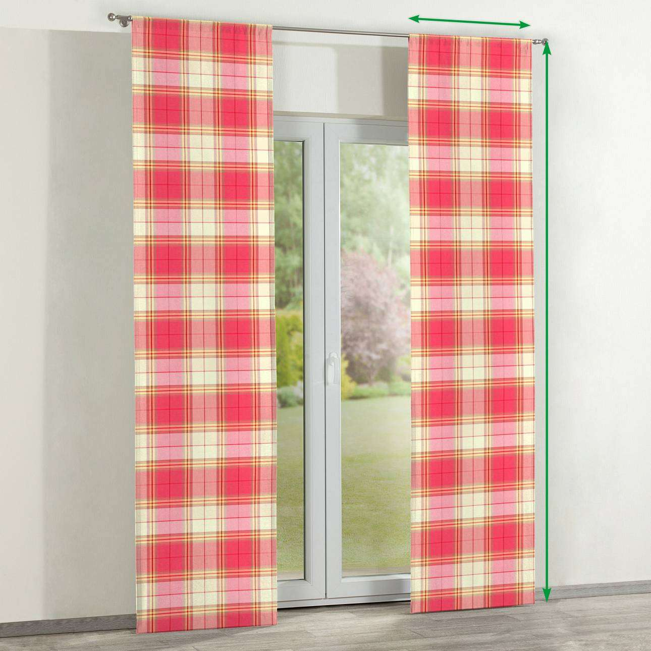 Slot panel curtains – Set of 2 in collection Bristol, fabric: 125-25